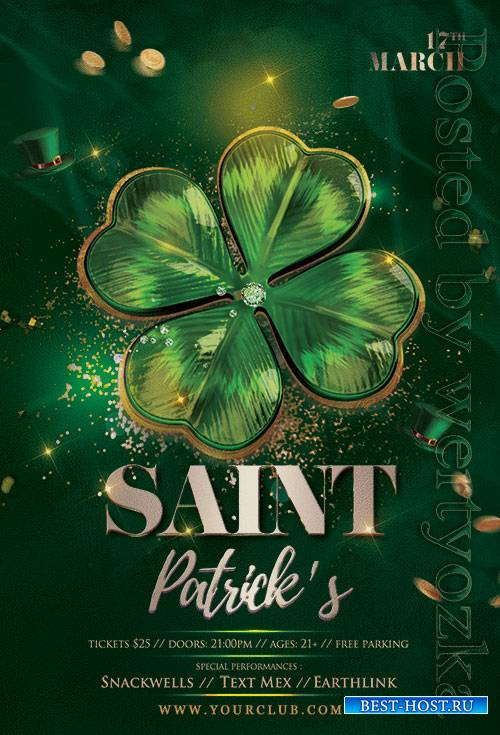Saint Patricks Day - Premium flyer psd template