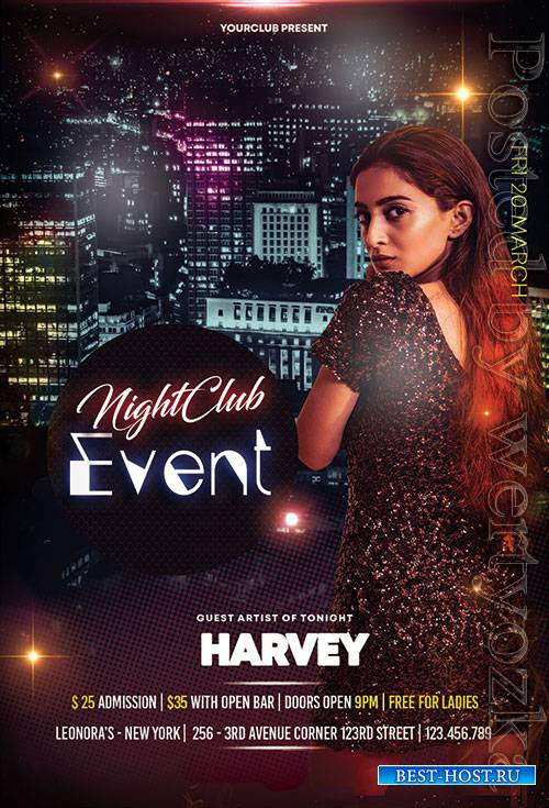 Event Club Night - Premium flyer psd template