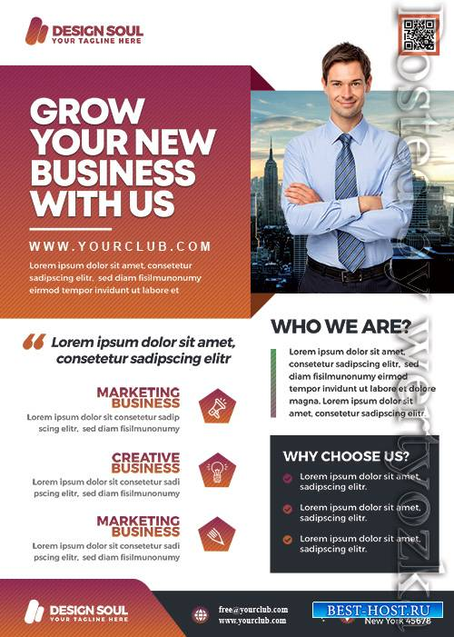 Corporate Business Promotion - Premium flyer psd template