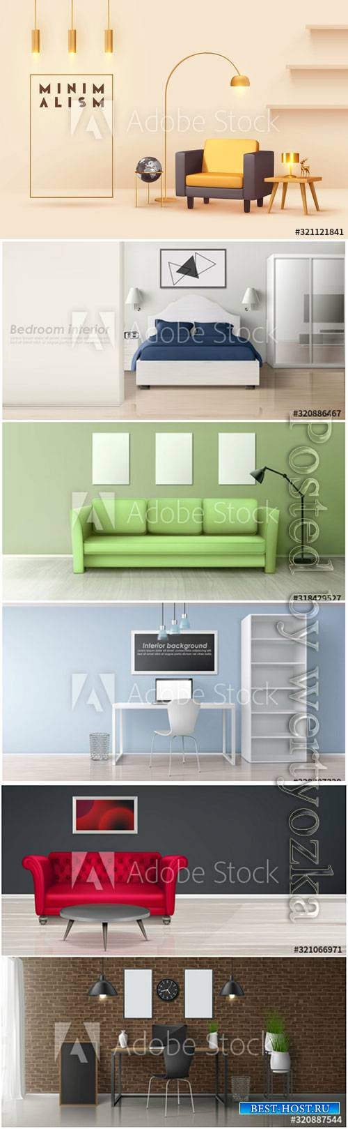 Modern vector interior design