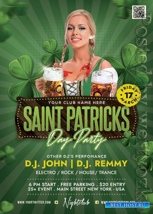 Saint Patricks Day Celebration - Premium flyer psd template