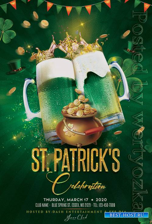 St Patricks Celebration - Premium flyer psd template