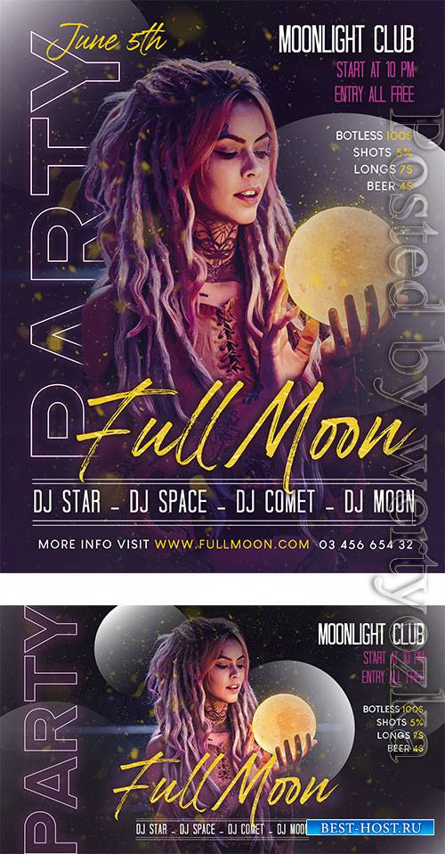 Full Moon Party - Premium flyer psd template