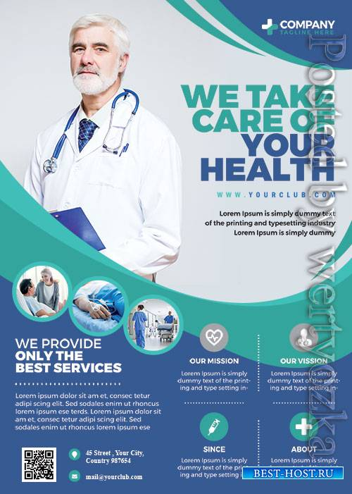 Hospital Health Care - Premium flyer psd template