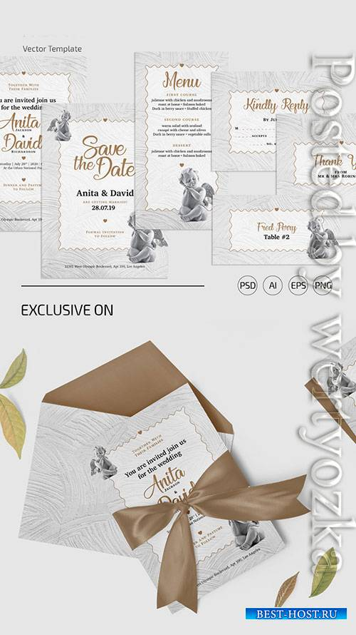 Wedding set - Premium flyer psd template