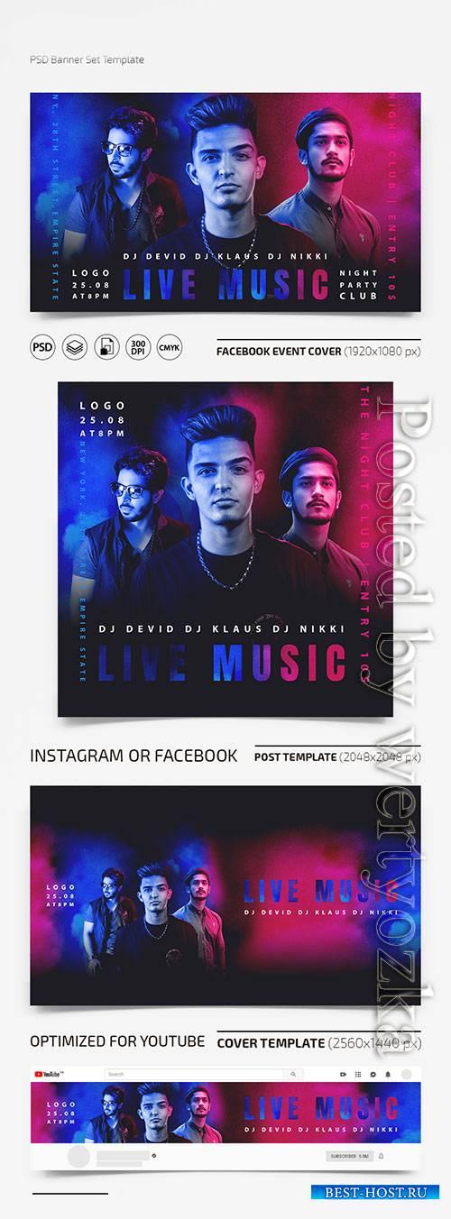 DJ Set - Premium flyer psd template