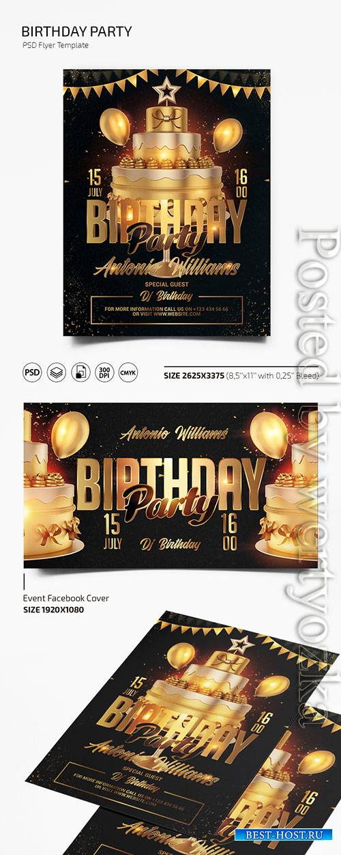Birthday - Premium flyer psd template
