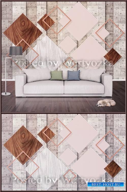 3D psd background wall modern geometric square
