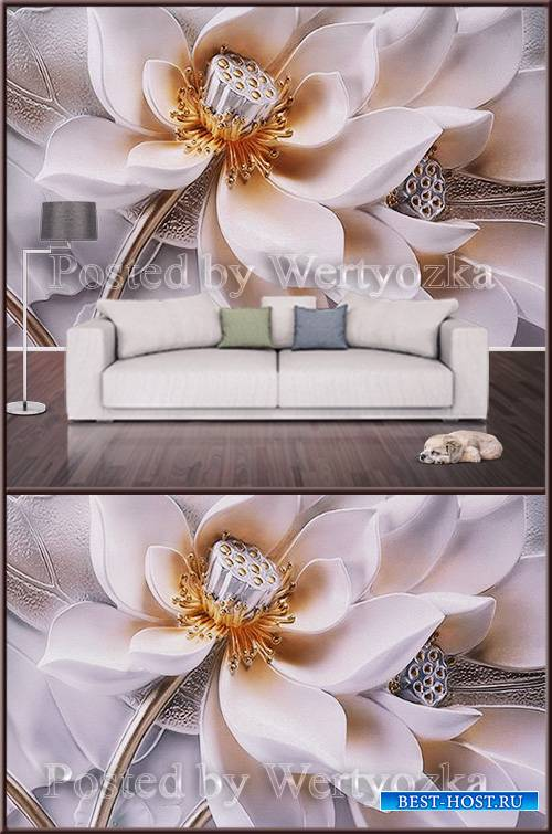 3D psd background wall elegant flower