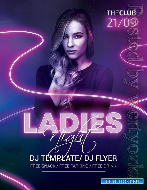 Ladies Night - Premium flyer psd template