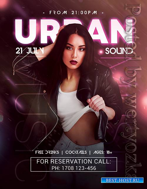 Urban Sound - Premium flyer psd template