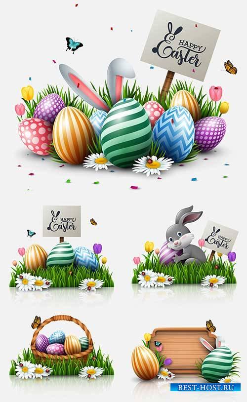 Пасхальные композиции - Векторный клипарт / Easter compositions - Vector Gr ...