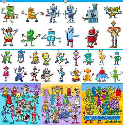 Роботы - Векторный клипарт / Robots - Vector Graphics