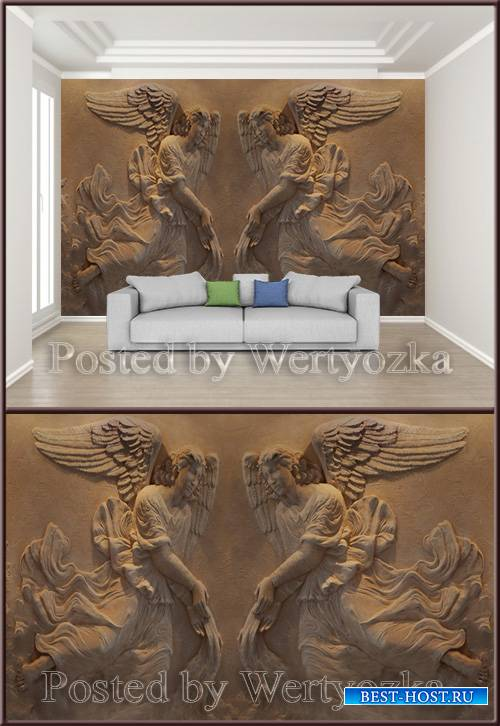 3D psd background wall angels