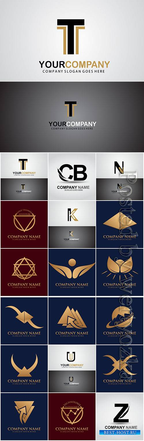 Logos in vector, business icons, emblems, labels # 7