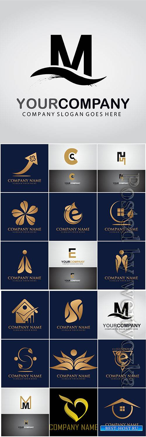 Logos in vector, business icons, emblems, labels # 6