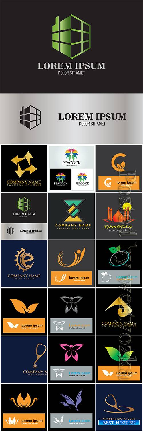 Logos in vector, business icons, emblems, labels # 5