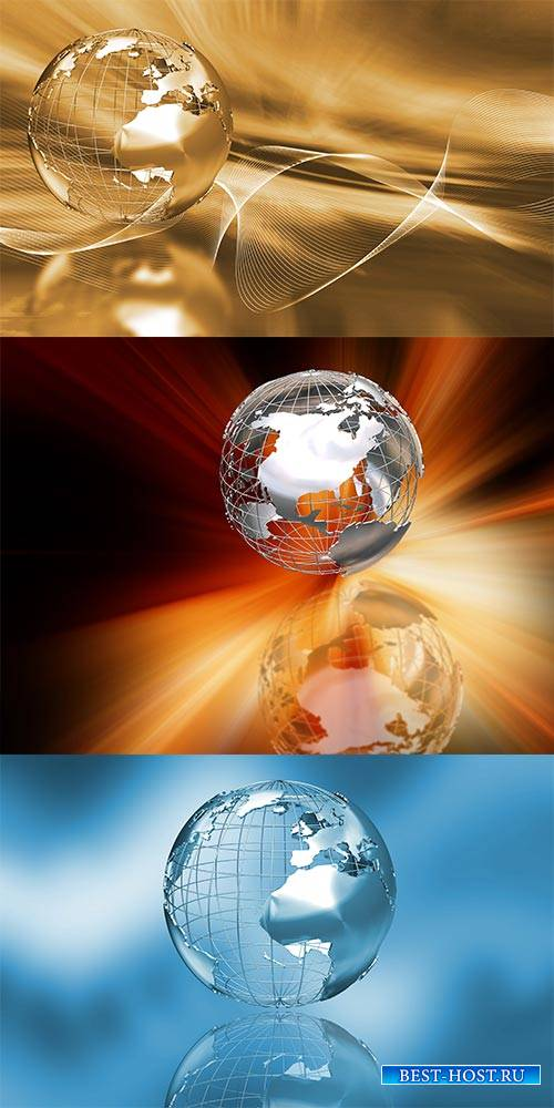 Глобус. Абстракция - Растровый клипарт / The globe. Abstraction - Raster clipart