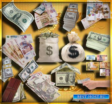 Png прозрачный фон - Доллары