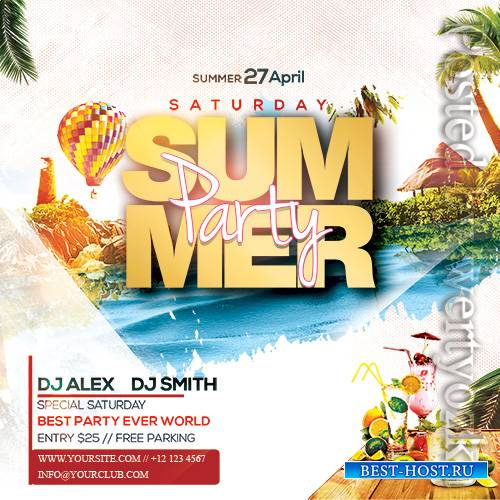 Summer Party2 - Premium flyer psd template