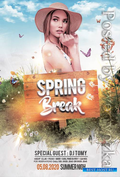 Spring Break Event - Premium flyer psd template