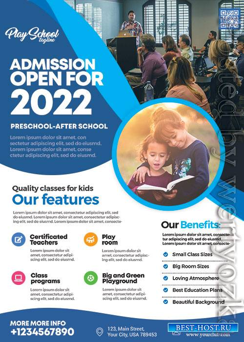 School Admission  - Premium flyer psd template