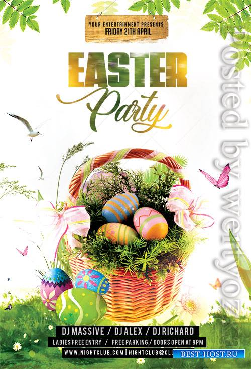 Easter Party Flyer2 - Premium flyer psd template