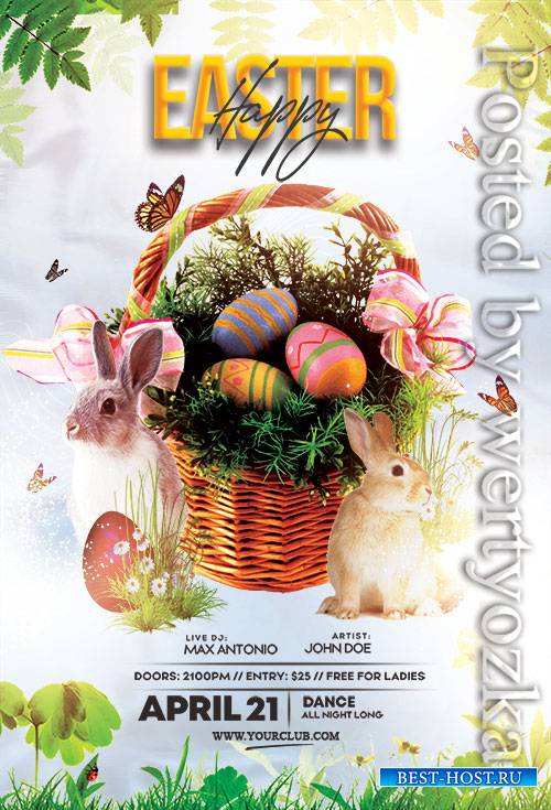 Easter Egg Hunt Party - Premium flyer psd template