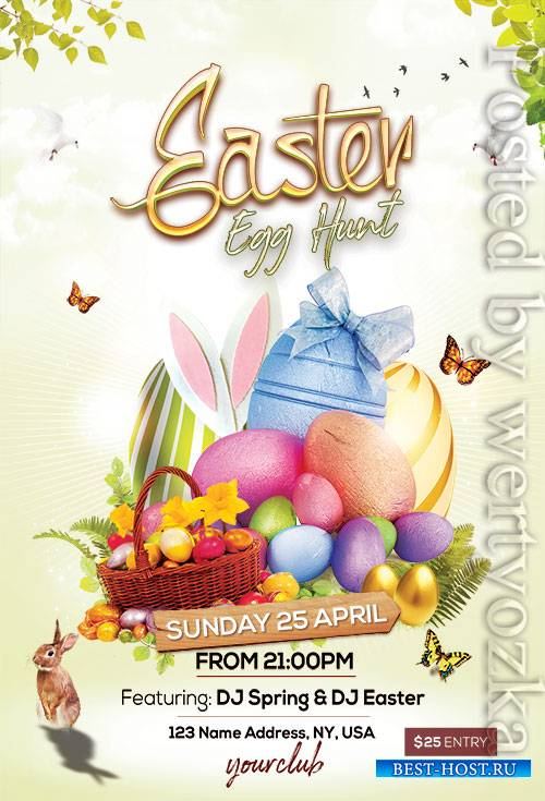 Easter Egg Hunt2  - Premium flyer psd template