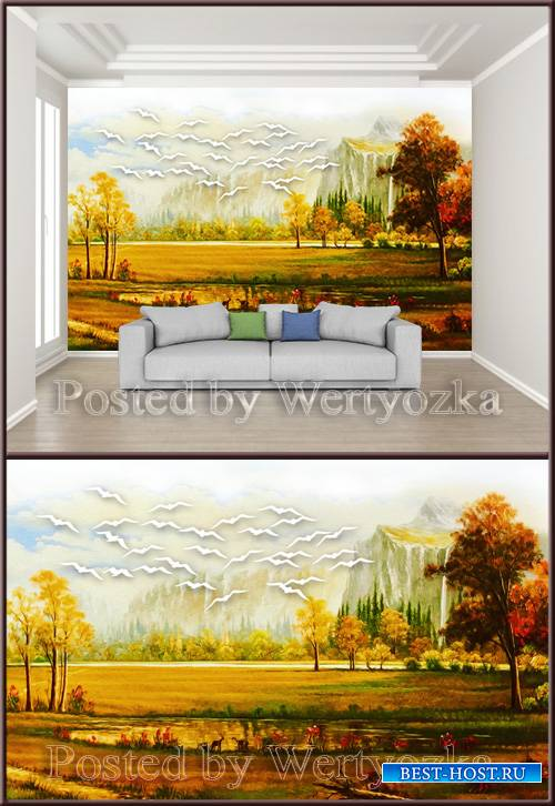 3D_psd_background_wall_landscape_scenery_oil_painting