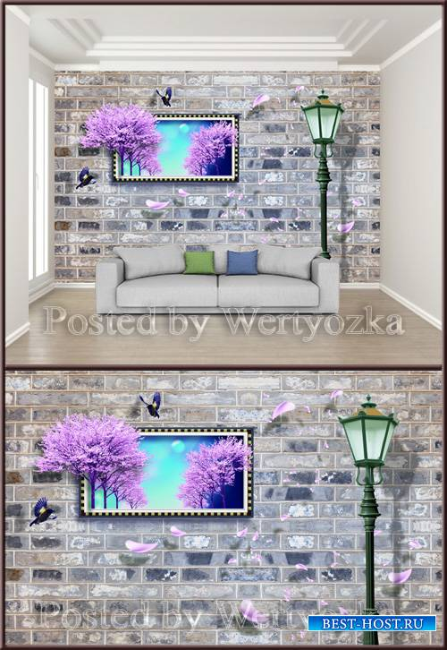 3D psd background wall modern minimalist
