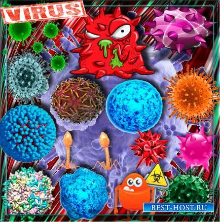 Png клипарты - Вирусы, коронавирусы