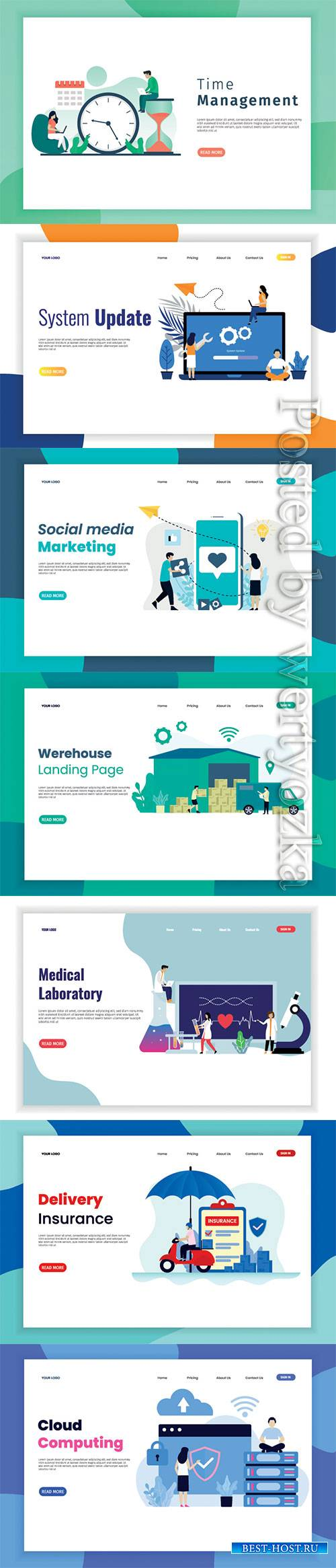Set of banners with isometric vector illustration # 5
