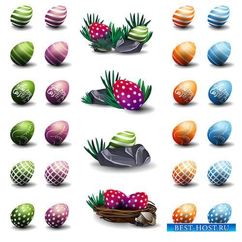Пасхальные яйца - Векторный клипарт / Easter eggs - Vector Graphics