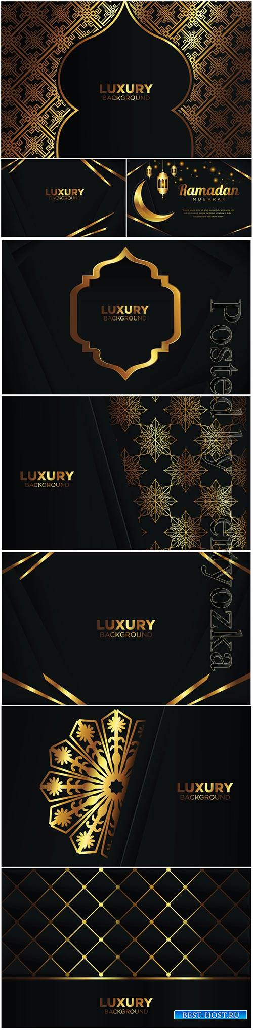 Luxury vector background ramadan islamic arabesque