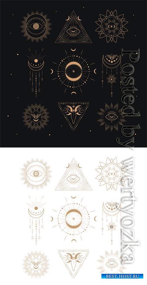 Sacred geometric logo template