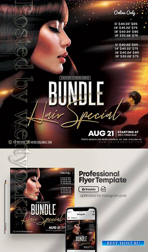 Hair Bundles - Premium flyer psd template