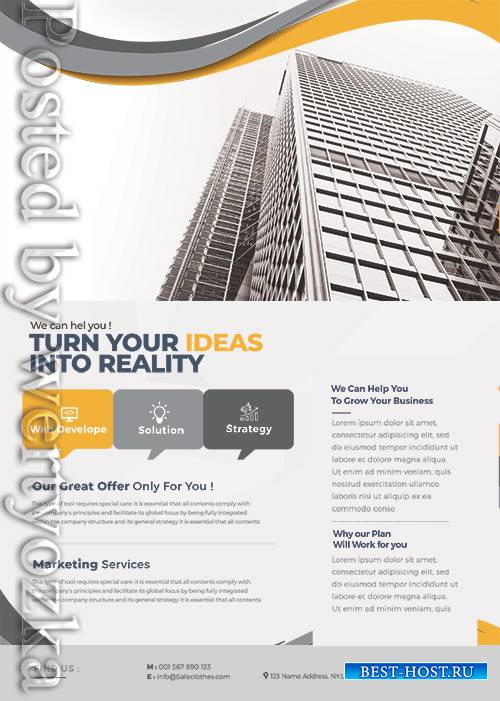 Success Marketing Business - Premium flyer psd template