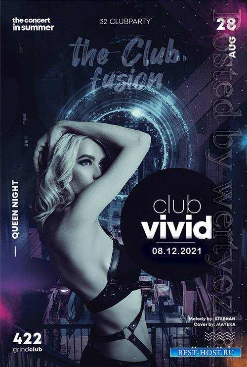 Club vivid - Premium flyer psd template