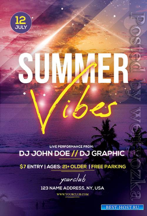 Summer Vibes - Premium flyer psd template