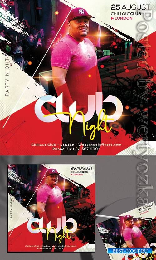 Club Night - Premium flyer psd template