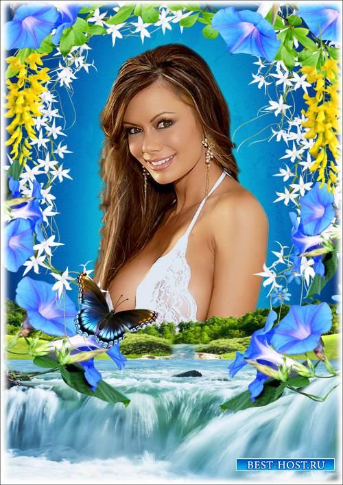 Рамка для Фотошопа - Весенние краски