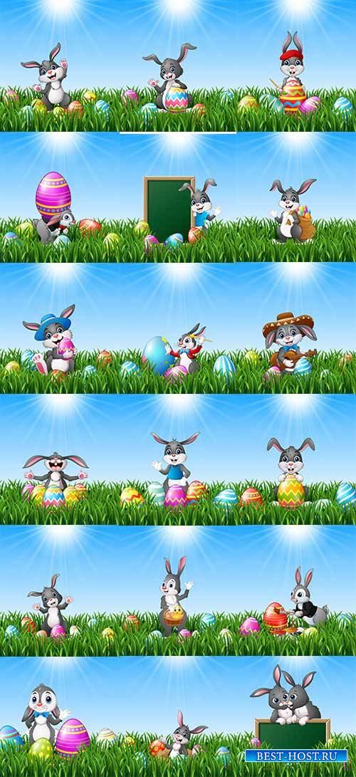 Фоны к Пасхе в векторе 6 / Easter backgrounds in vector 6
