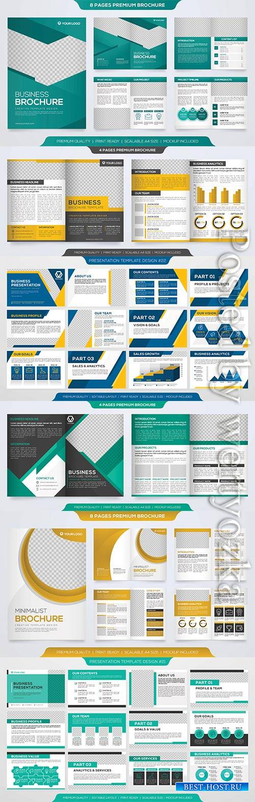 Set of business web banner, promotion kit template, flyer, book cover # 5