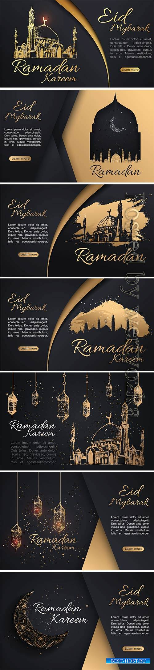 Ramadan Kareem islamic greeting watercolor sketch background