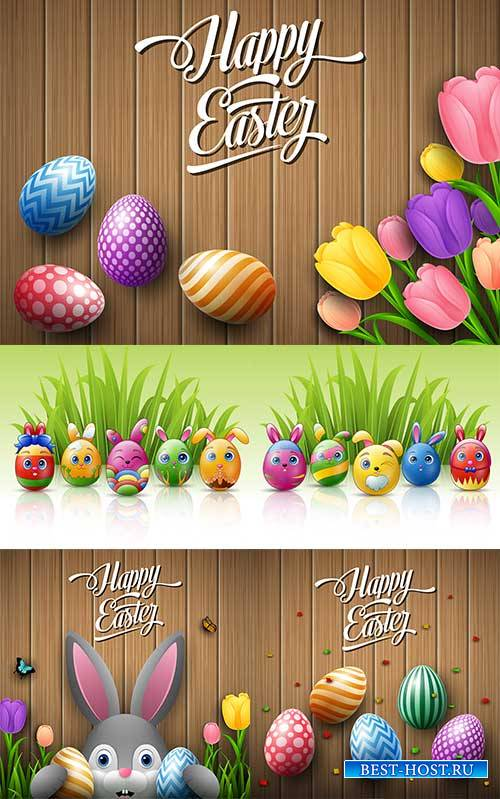 Фоны к Пасхе в векторе 8 / Easter backgrounds in vector 8