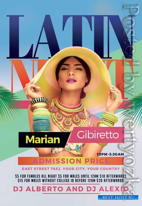 Latin night - Premium flyer psd template