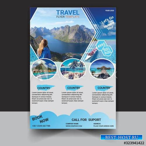 Time to travel flyer template