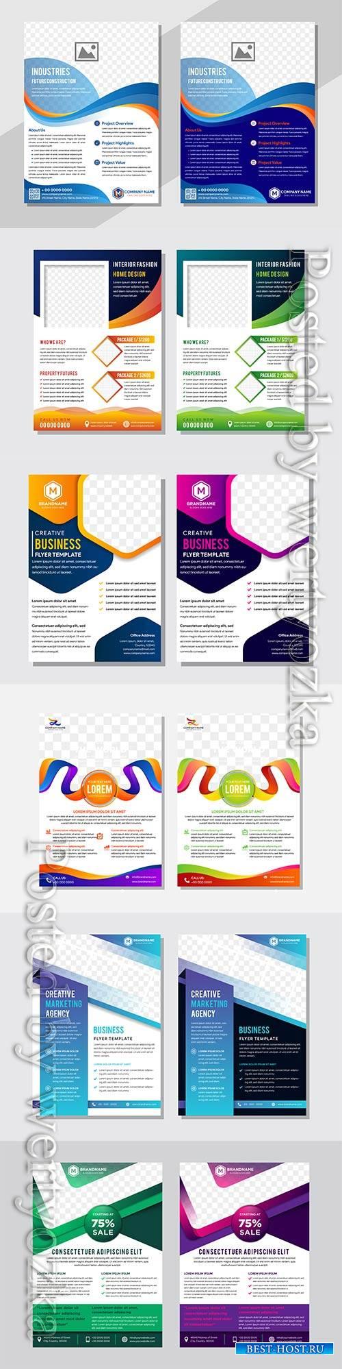 Business vector design template for brochure, flyer