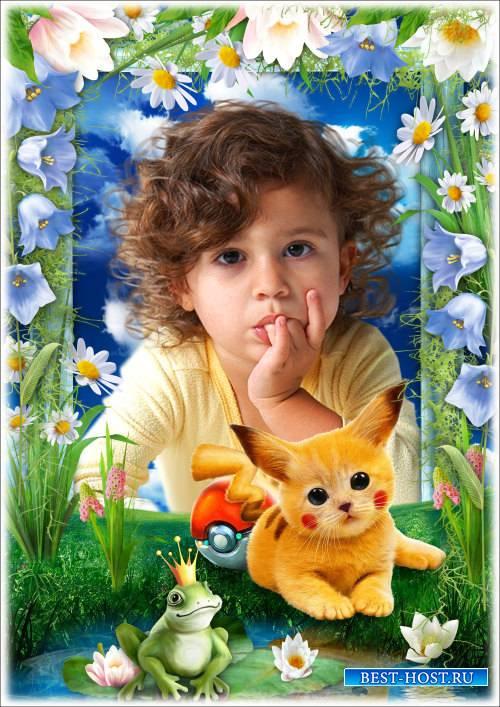 Рамка для Фотошопа с Покемоном - Мой любимый Пикачу